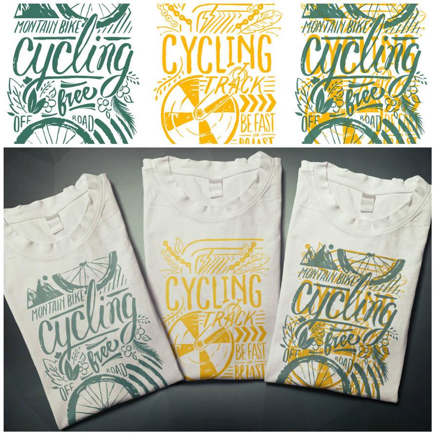 T-shirts design sport cycling by EugeneStanciu