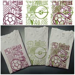 T-shirts design sport football + handball by EugeneStanciu