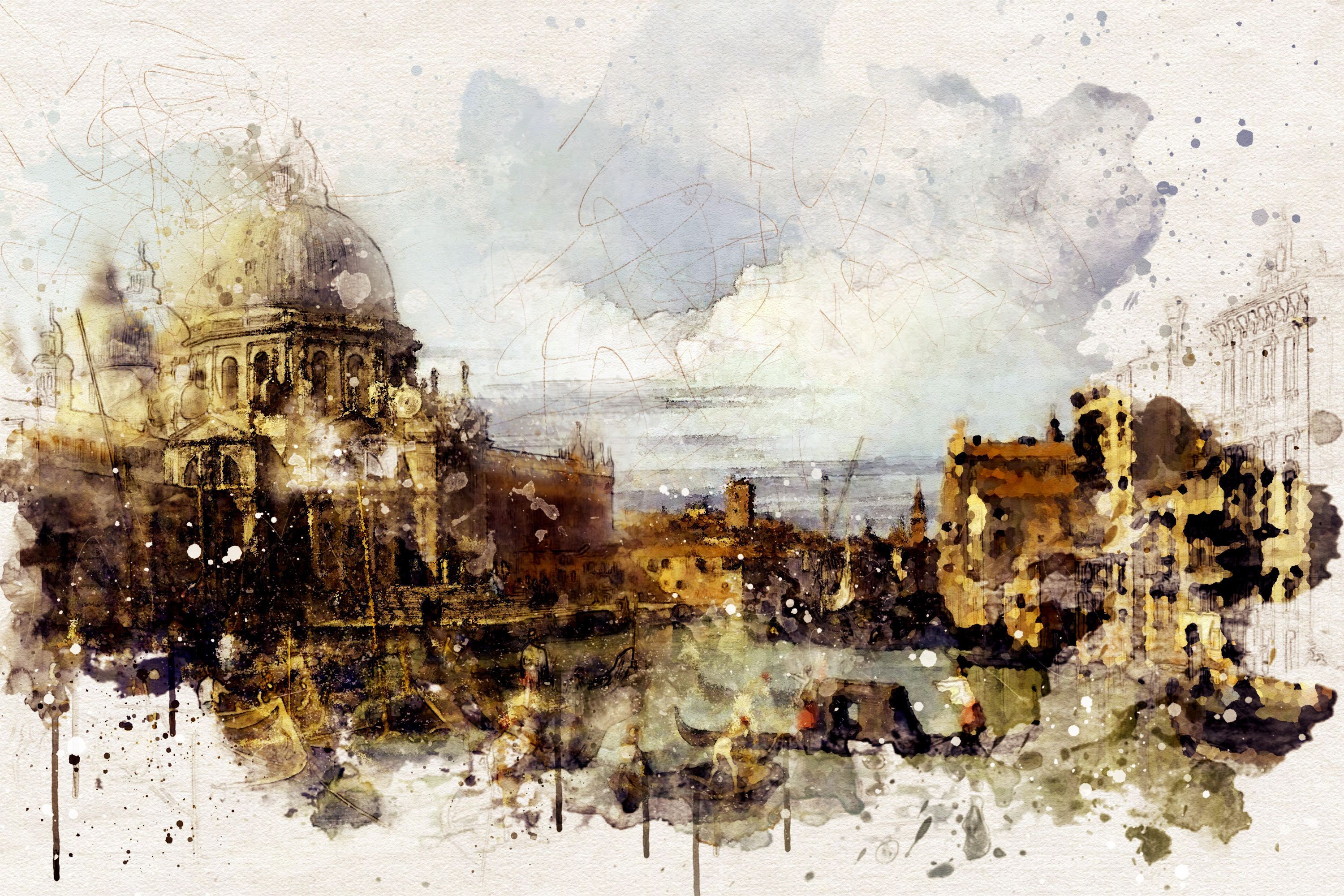 Canaletto - aquarelle by EugeneStanciu