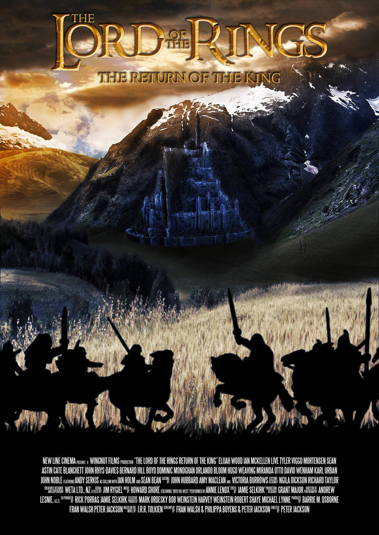 Lord Of The Rings Return Of The King Poster By Maikel S On Deviantart
