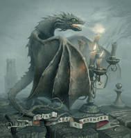 Little angry dragon by 25kartinok