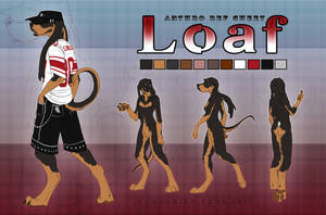 Loaf Anthro Ref 2012 by SoldierYena