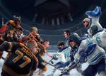 Villains versus Heroes by santtos-portfolio