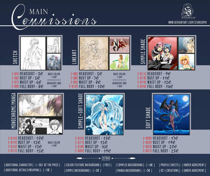 Main Commissions List Sheet - //OPEN// by StarSophi