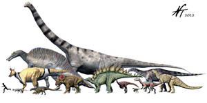 Dinosaur diversity by NTamura