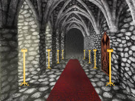 Castle hallway by storykween