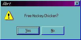 Free Hockey Chicken No.3 by BPMdotEXE