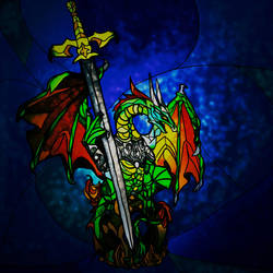 Paragrin the Sword Keeper by BlueJingoArt