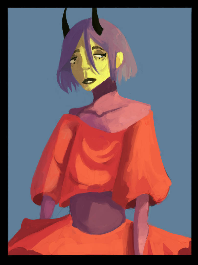 A painting of a sad sad teen soon to be adult by Zelda-muffins