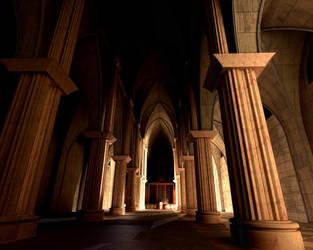 Gothic Church, Night by mariustipa