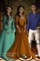 Disney Families - Jasmine, Aladdin and Leila by shenerdist