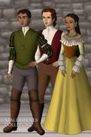 Disney Families- Pocahontas, John Rolfe and Thomas by shenerdist