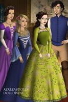 Disney Families- Rapunzal, Eugene,Eleanor and Lucy by shenerdist