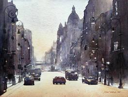 Piotrkowska street by micorl