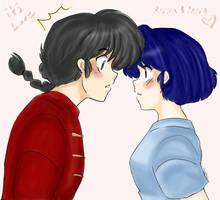 Ranma and Akane-accidentally.. by AngieSan