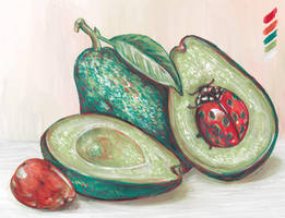 A Ladybug and Few Avocados by digit-Ds