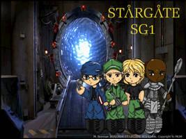 Stargate SG1 Chibi Wallpaper by SilverXenomorph
