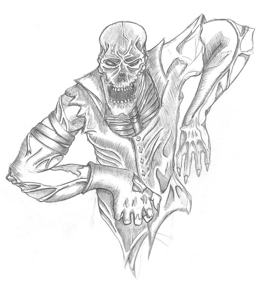 Zombie pencil drawing by anthonynemer on deviantart