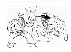 AT Heihachi VS Dragunov by sav8197