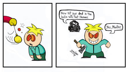 Butters Hypnotized by Cartman by sav8197