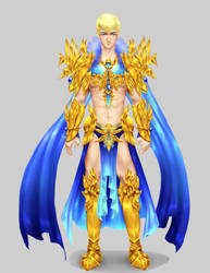 Saphire-Gold Paladin by chaosdmm