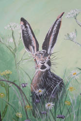 Hare painting by IszyChurch