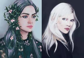 Portrait studies 5 by AdamaSto