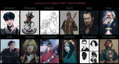 2016 Art Summary by AdamaSto