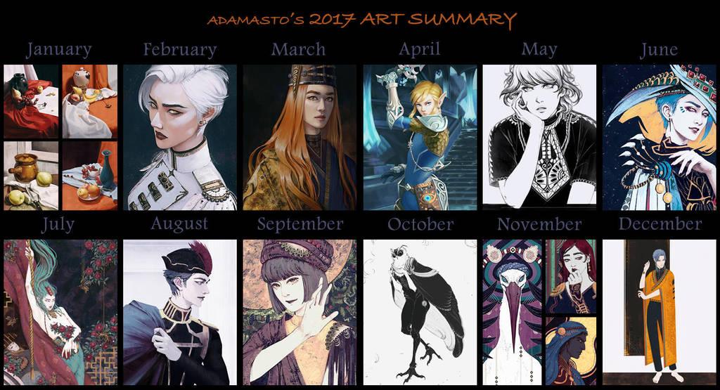 2017 Art Summary by AdamaSto