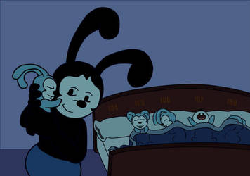 Oswald the Tired Papa Rabbit by angeltiger777