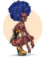 Glitter Afro by universal-nifa