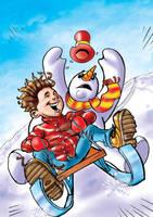 Snowman by ozzyfreeloader
