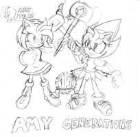 Amy Generations Sketch by RaianOnzika