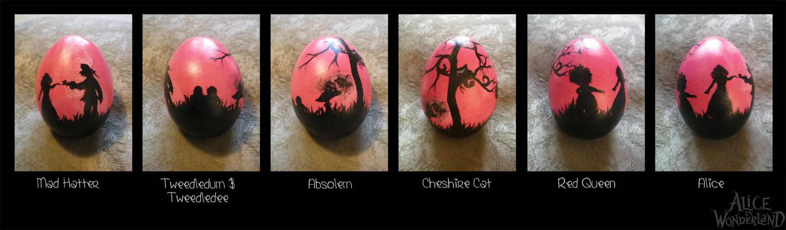 Easter Egg Alice in Wonderland by Ashqtara