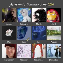 2014 Art Summary by Ashqtara