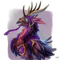 Long-Forgotten Hippogryph by azerothin365days