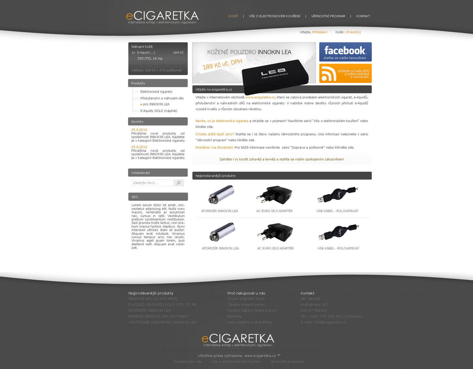 ecigaretka.cz - v1 by Ingnition