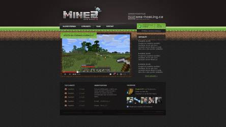 Webdesign MineZ.cz - Minecraft by Ingnition