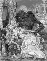Draculas shadow by brentb9702