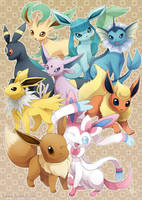 Eeveelutions : Dream Team by Sanatio
