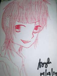 Azusa Kinose drawing (draft) by RondineYamamoto