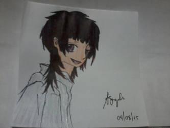 Azusa Kinose drawing (final) by RondineYamamoto