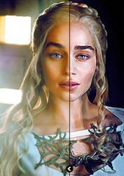 Daenerys Targaryen Watercolour Painting Effect by jasmine2792
