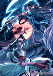 Commission Bankotsu and Hiten fight by xong