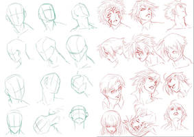 head practice :D by xong