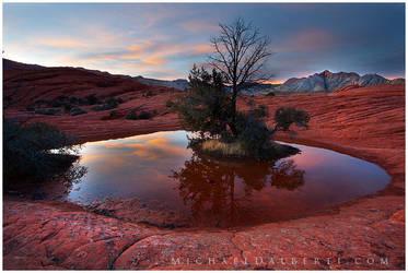 Sunset Island by michael-dalberti