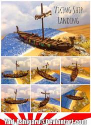 Viking Ship Landing by Yari-Ashigaru