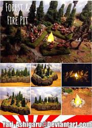 Forest and Fire Pit by Yari-Ashigaru
