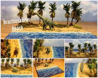 Brachiosaurus Beach Diorama by Yari-Ashigaru