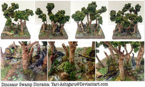 Dinosaur Swamp Diorama by Yari-Ashigaru